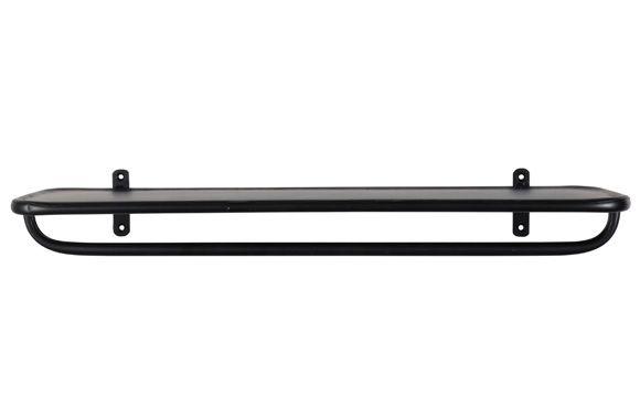 Die schwarze Wandablage von IB Laursen ist für Küche und Bad - handtuchhalter für küche