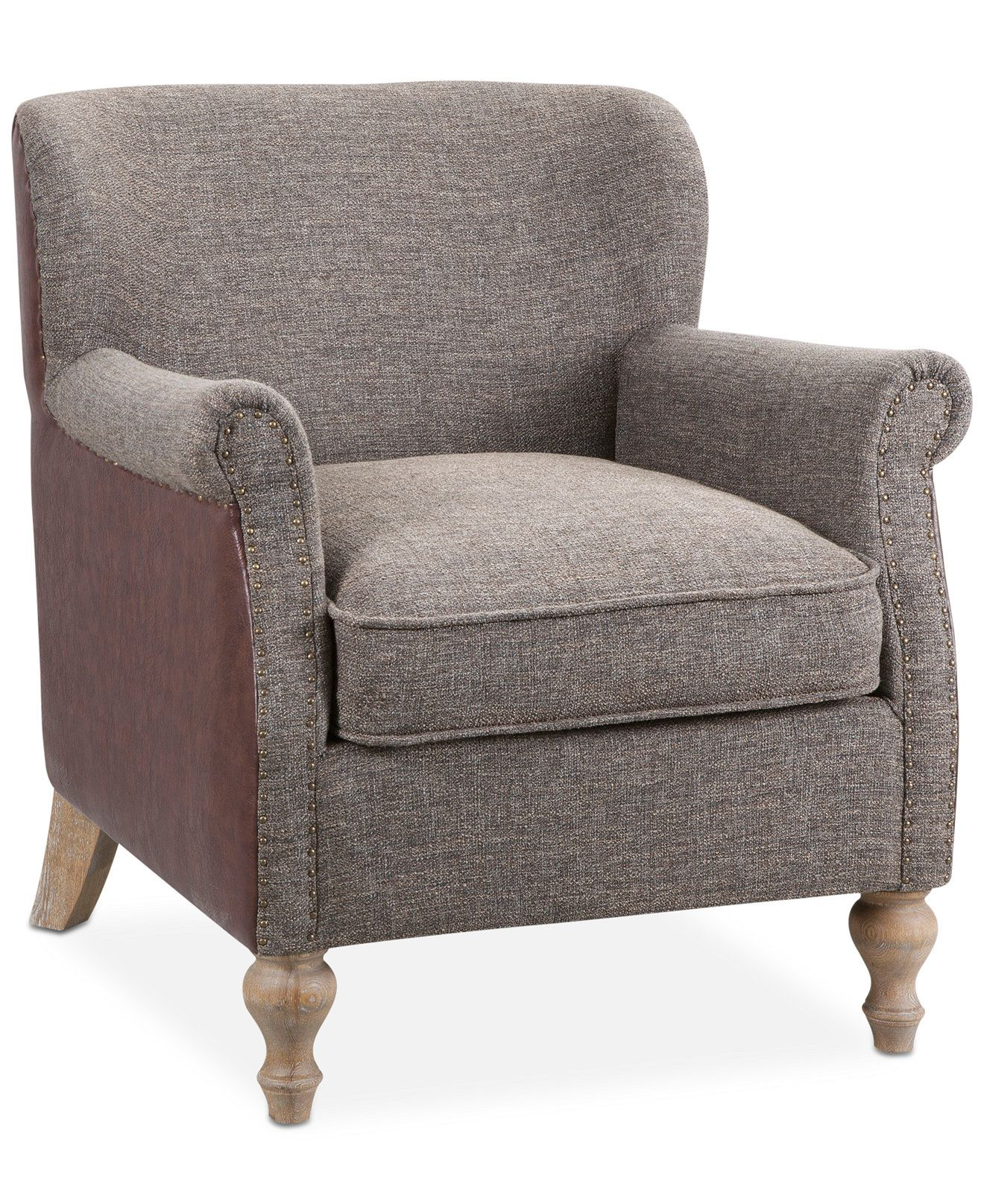 leather accent chairs for living room modern rugs chelsie fabric faux chair direct ship recliners furniture macy s