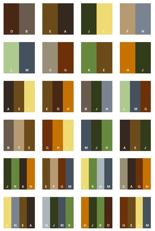 Earth Tone Colour Combinations
