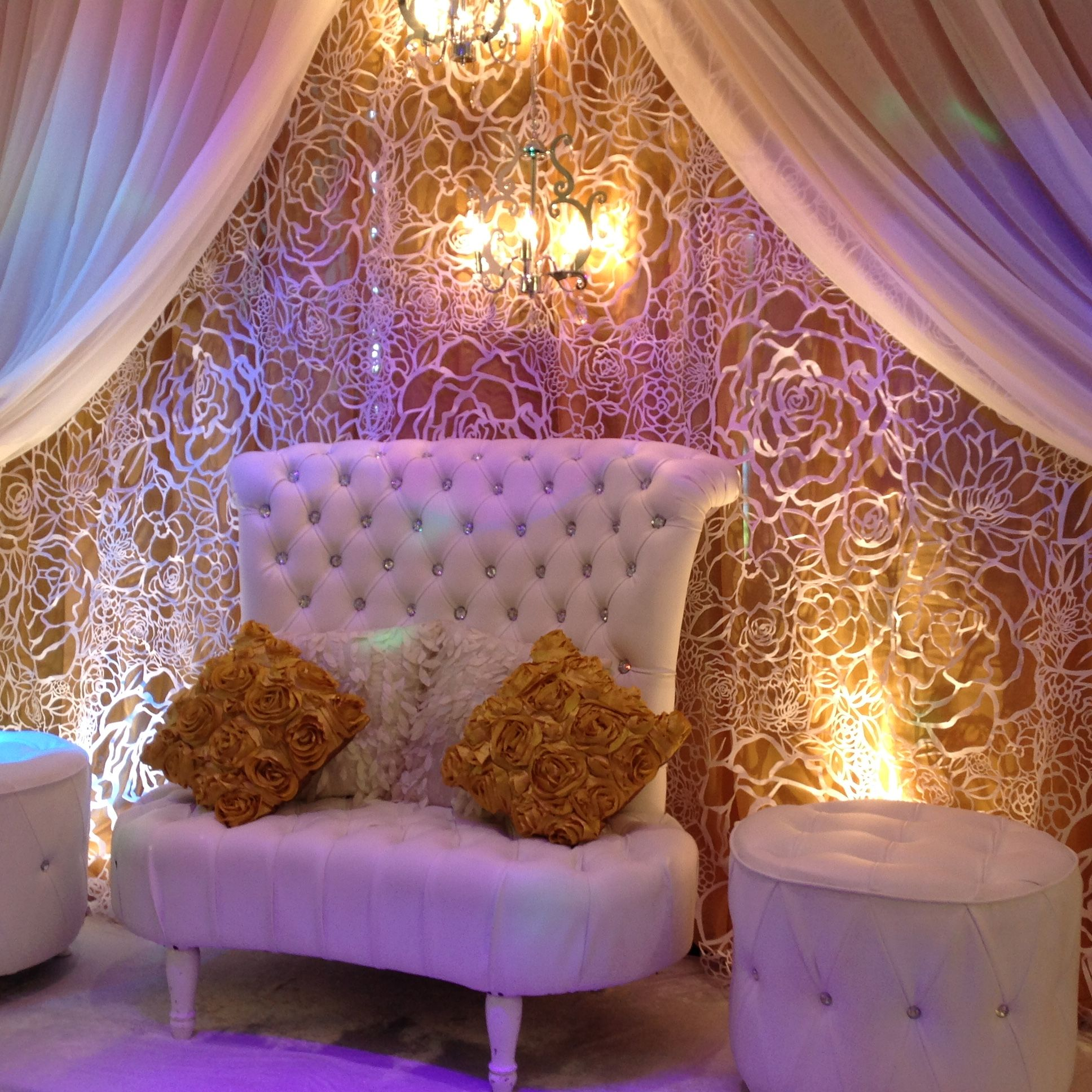 Wedding Royal Golden Throne Set Dstexports