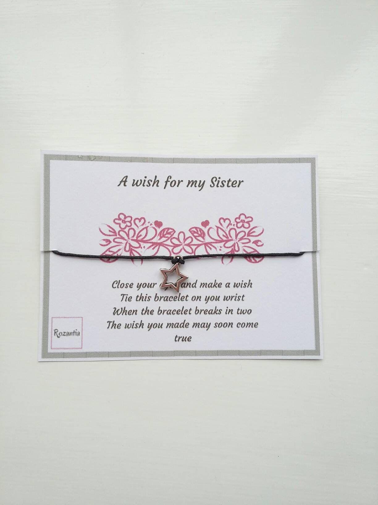 A wish for my sister friendship bracelet sister wish bracelet