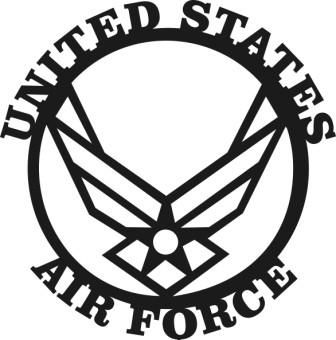 Air Force Logo Clipart clipartsgramcom Military AirU.s. Air Force Logo Black And White