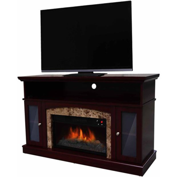 Walmart: Decor Flame Electric Fireplace for TVs up to 48\