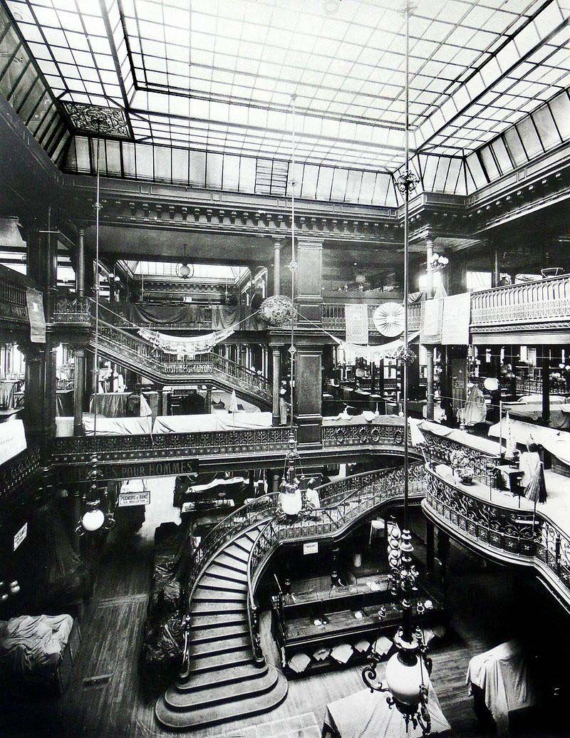 paris au bon march grand escalier 1875 paris. Black Bedroom Furniture Sets. Home Design Ideas
