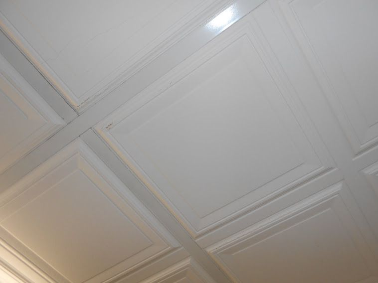drop down ceiling basement makeover