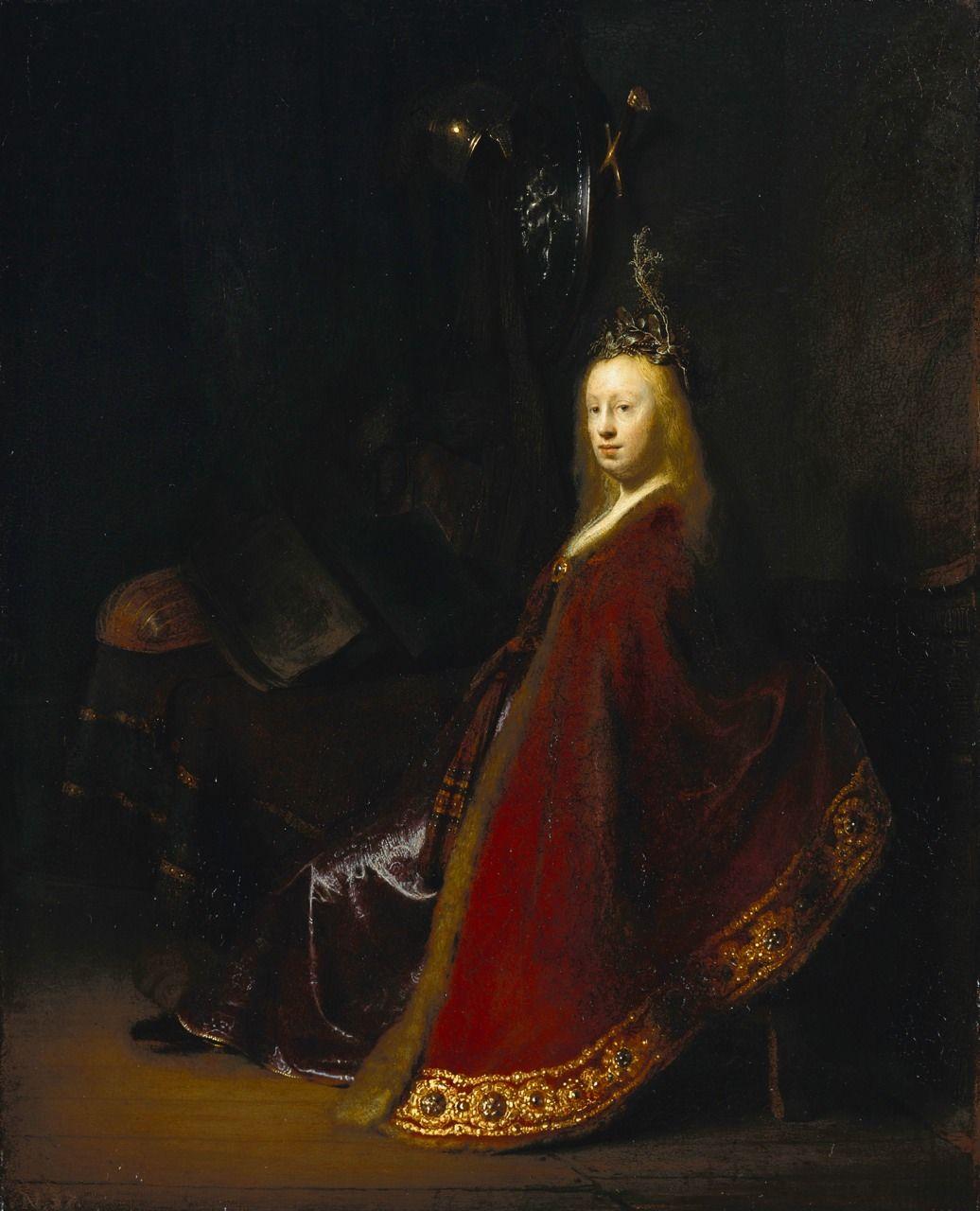 Minerva by Rembrandt Harmenszoon van Rijn 1631