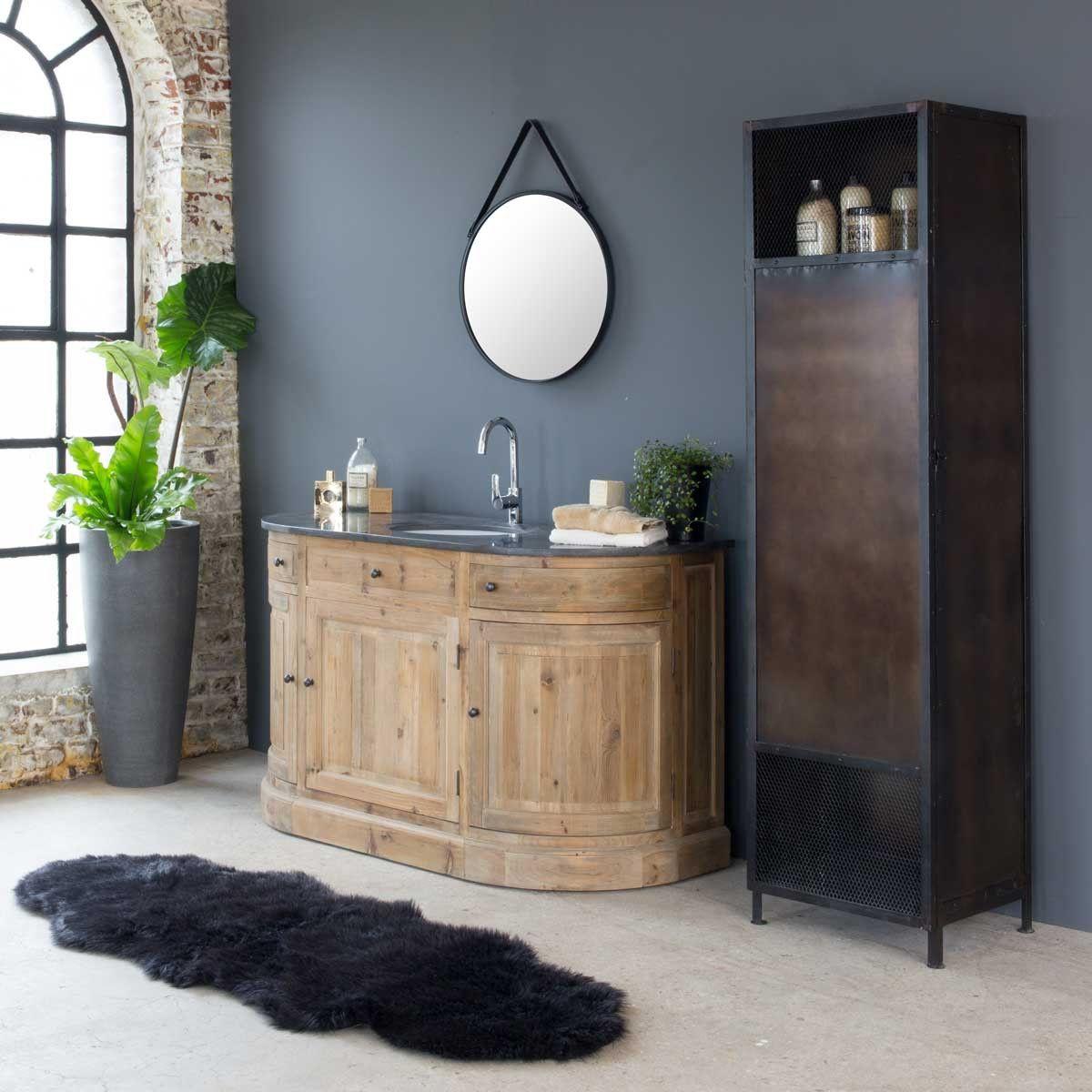 Meuble salle de bain bois massif arrondi 16 vasque, 16 portes, 16