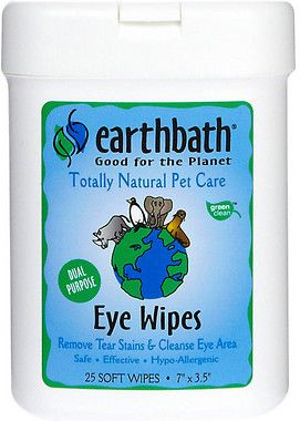 Crueltyfree Earthbath Eye Wipes For Dogs And Cats 4 99 25 Ct With Images Natural Pet Care Natural Pet Fragrance Free Products