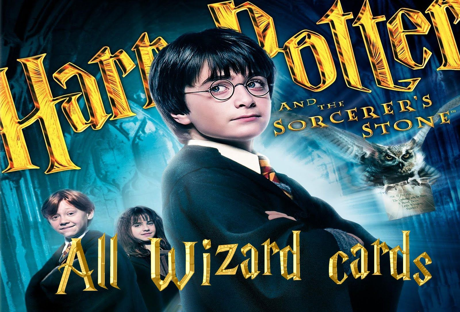 Harry potter and the sorcerers stone all wizard cards
