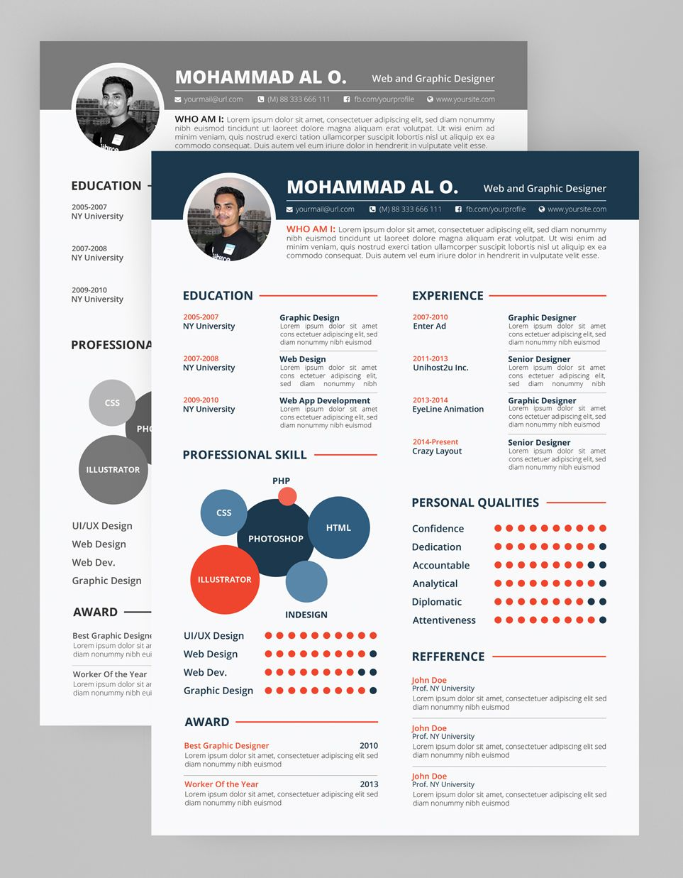 Free Resume Template  Print Ready  Two Color Versions This Is A