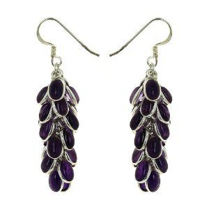 Boucles d'oreilles pendantes en Argent 925 et Améthystes: ShalinCraft: Amazon.fr: Bijoux