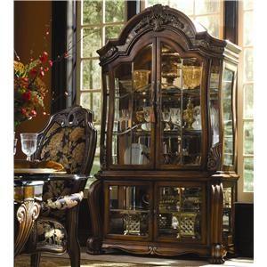 Aico Amini Innovation Oppulente Traditional Curio - J & J Furniture - Curio Cabinet Mobile, Daphne, Tillmans Corner, Alabama