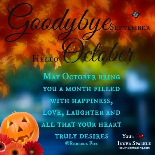 Lovely Goodbye September Hello October   Google Search Pictures