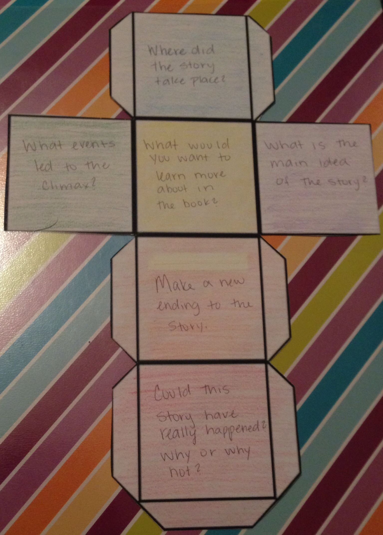 Question Cube To Help When Students Get Stuck During