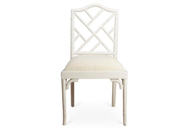Incredible Mae Bamboo Side Chair White White Linen Chairs Linen Beatyapartments Chair Design Images Beatyapartmentscom