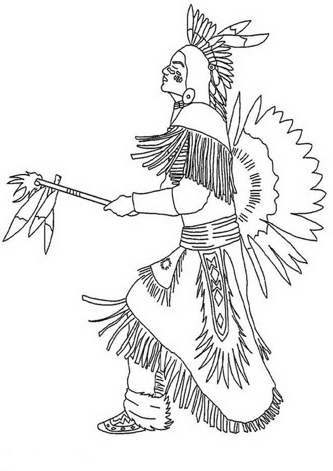 coloring page Native Americans - Native Americans | Projects ...