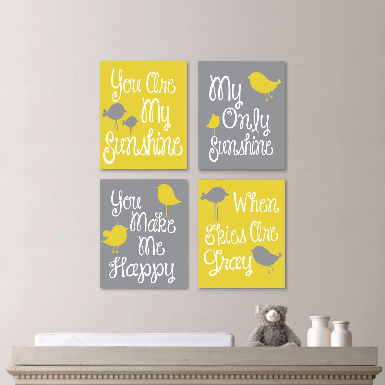 Baby Girl Nursery Art Print - You Are My Sunshine Nursery - You Are ...