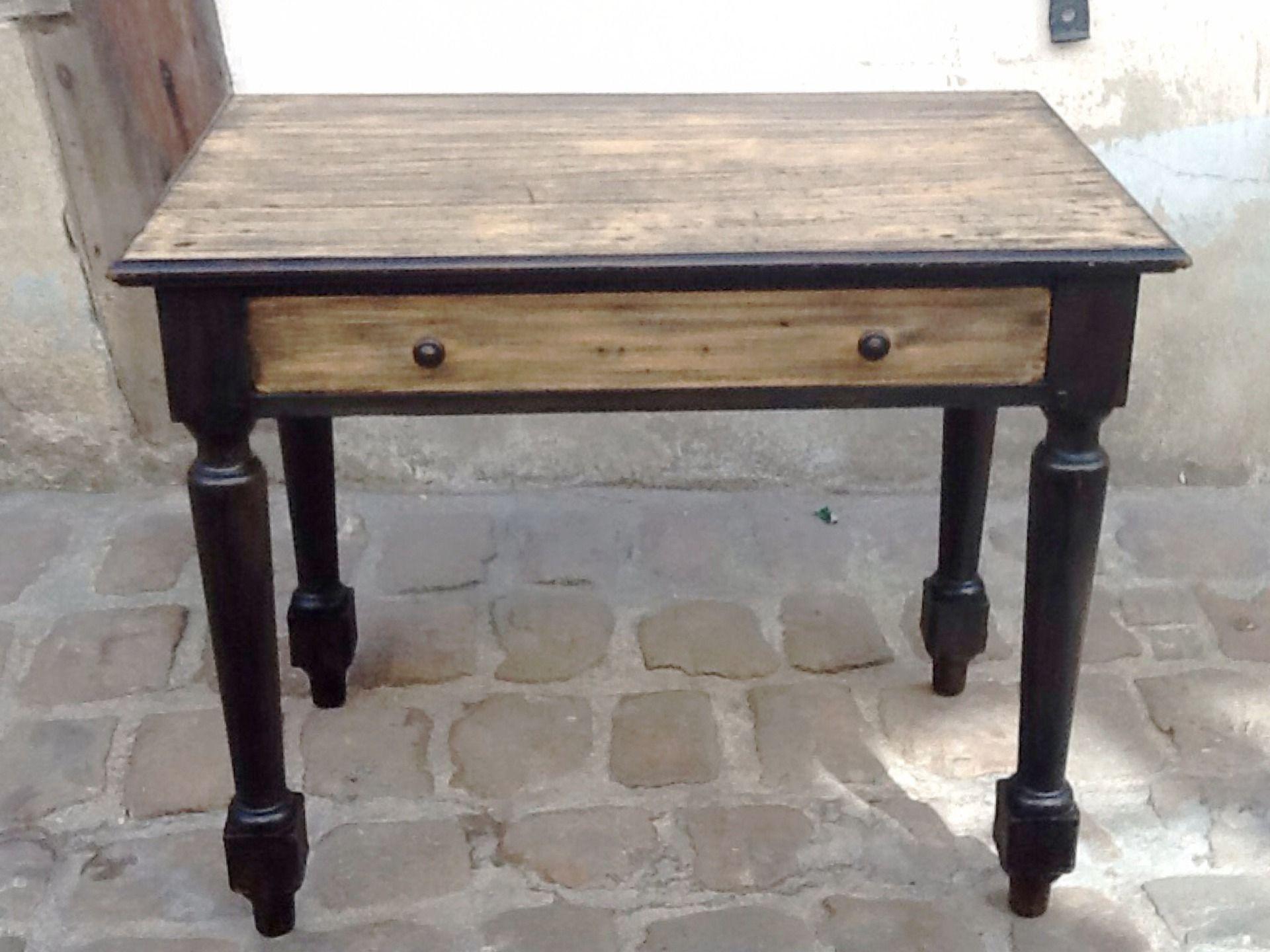 Bureau avec grand tiroir en bois : meubles et rangements par