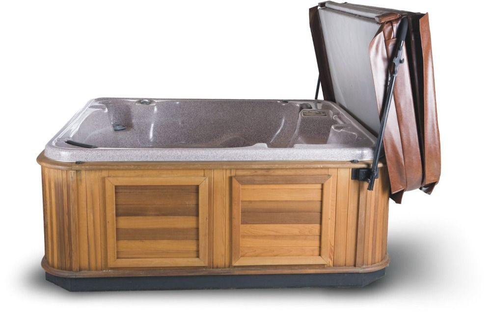 Suggested HOT TUB SPA COVER LIFTER Powder Coated Cabinet Mounted inc ...