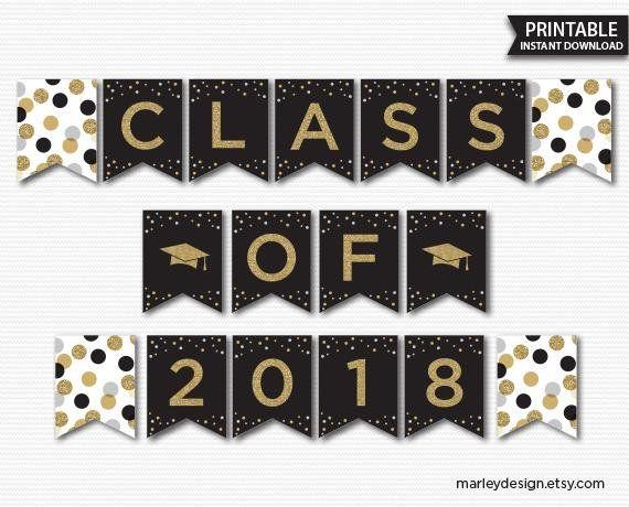 picture regarding Printable Graduation Decorations titled Commencement Banner Commencement Decorations Commencement Social gathering