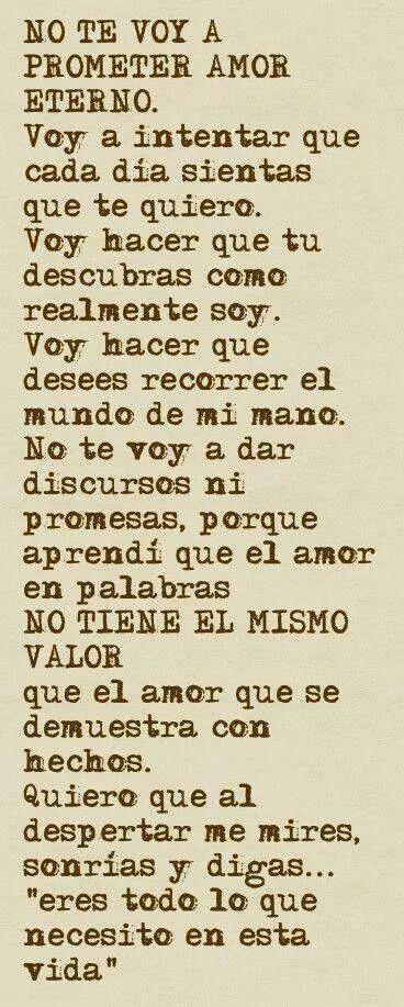 No Te Prometo Amor Eterno Frases Bonitas 3 Pinterest Love