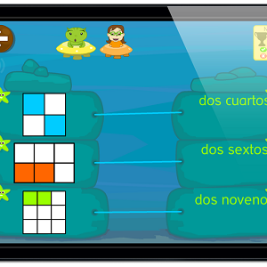 ejercicios fracciones app juegos #fracciones #juegos #apps #matematicas #español #apps #fractions #Primaria