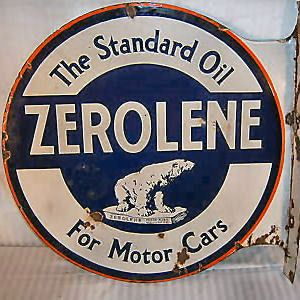 Standard Oil Company Enamel Sign