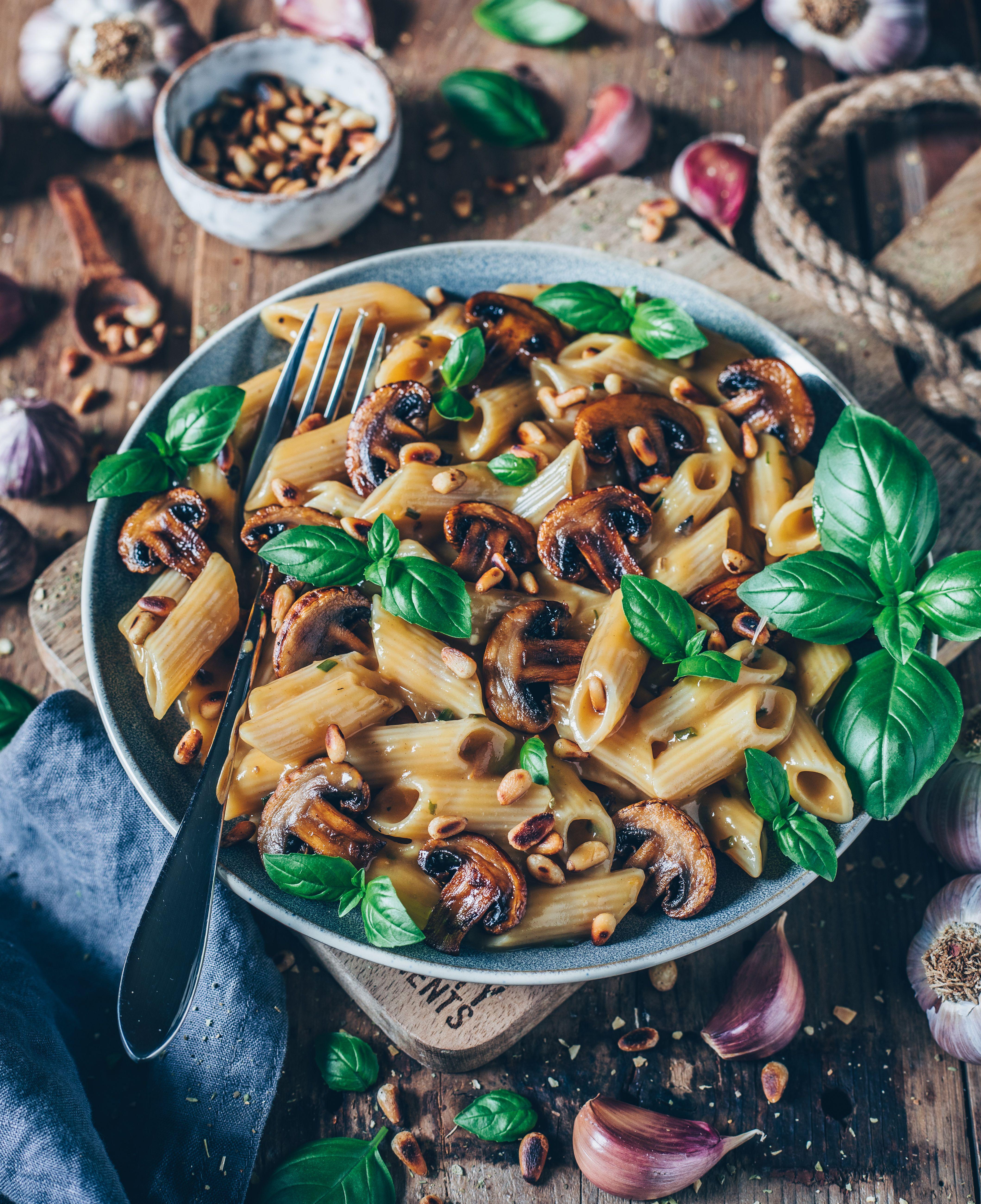 Creamy Mushroom Pasta Vegan Béchamel Sauce