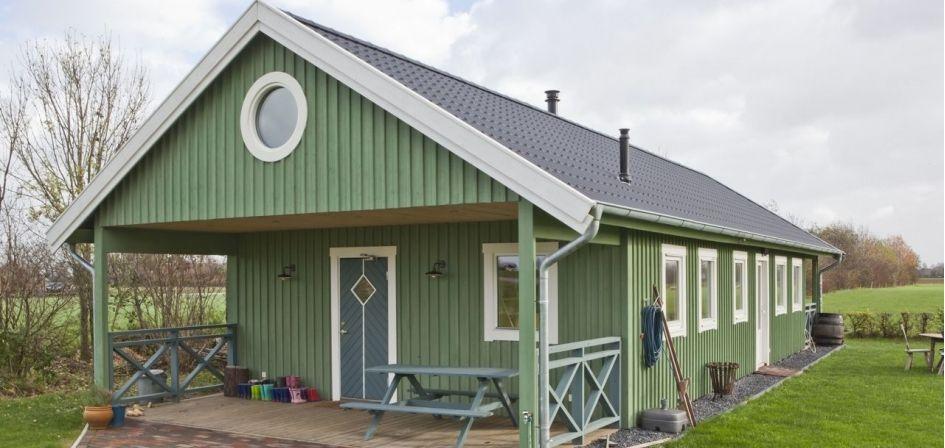 Bouwpakket huis huisje van hout buiten pinterest for Kleine huizen bouwen