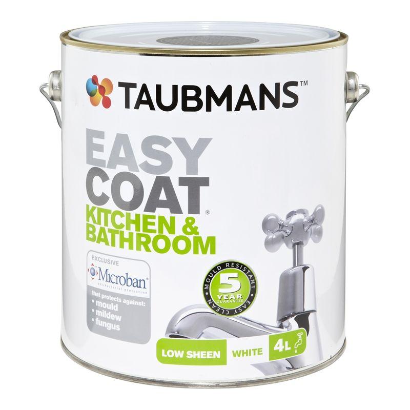 White Kitchen Bathroom Paint taubmans easycoat 4l white kitchen and bathroom interior paint 56