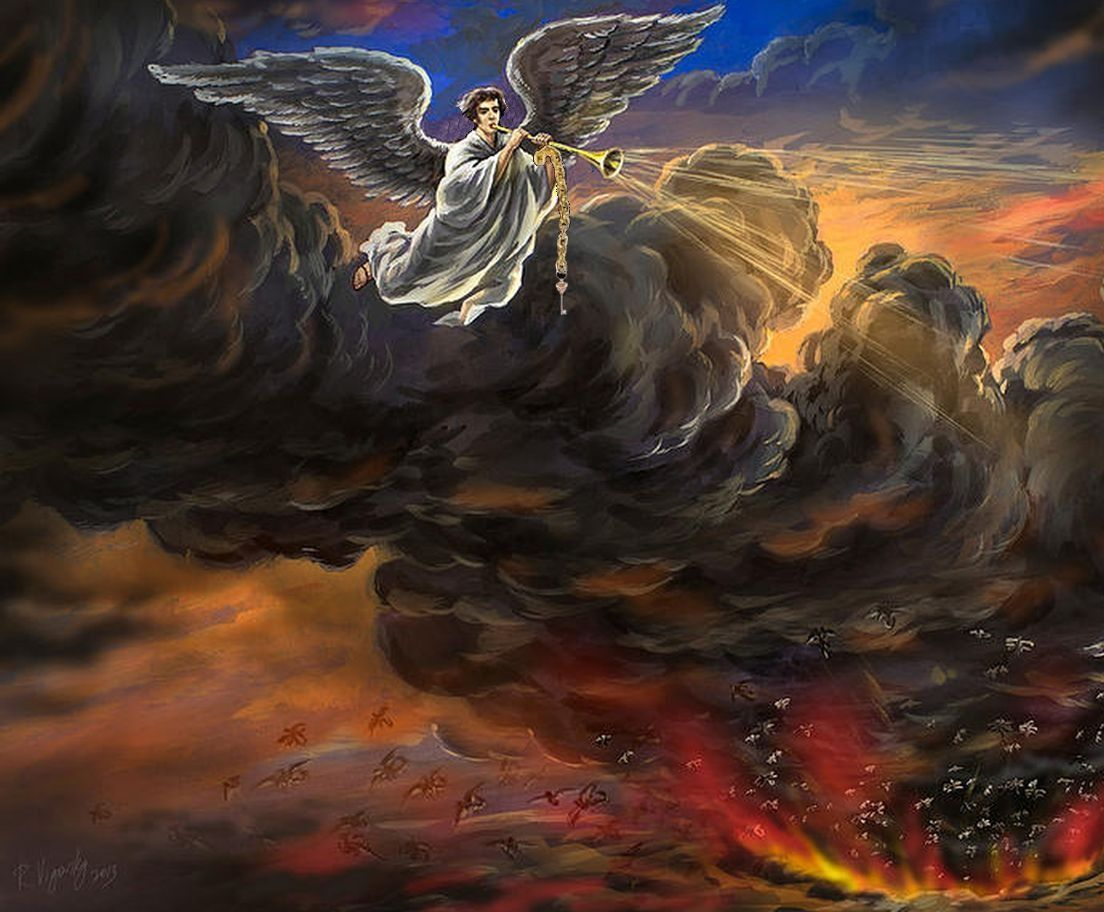 33 Rev 9.13 The fifth angel blew his trumpet. And I saw