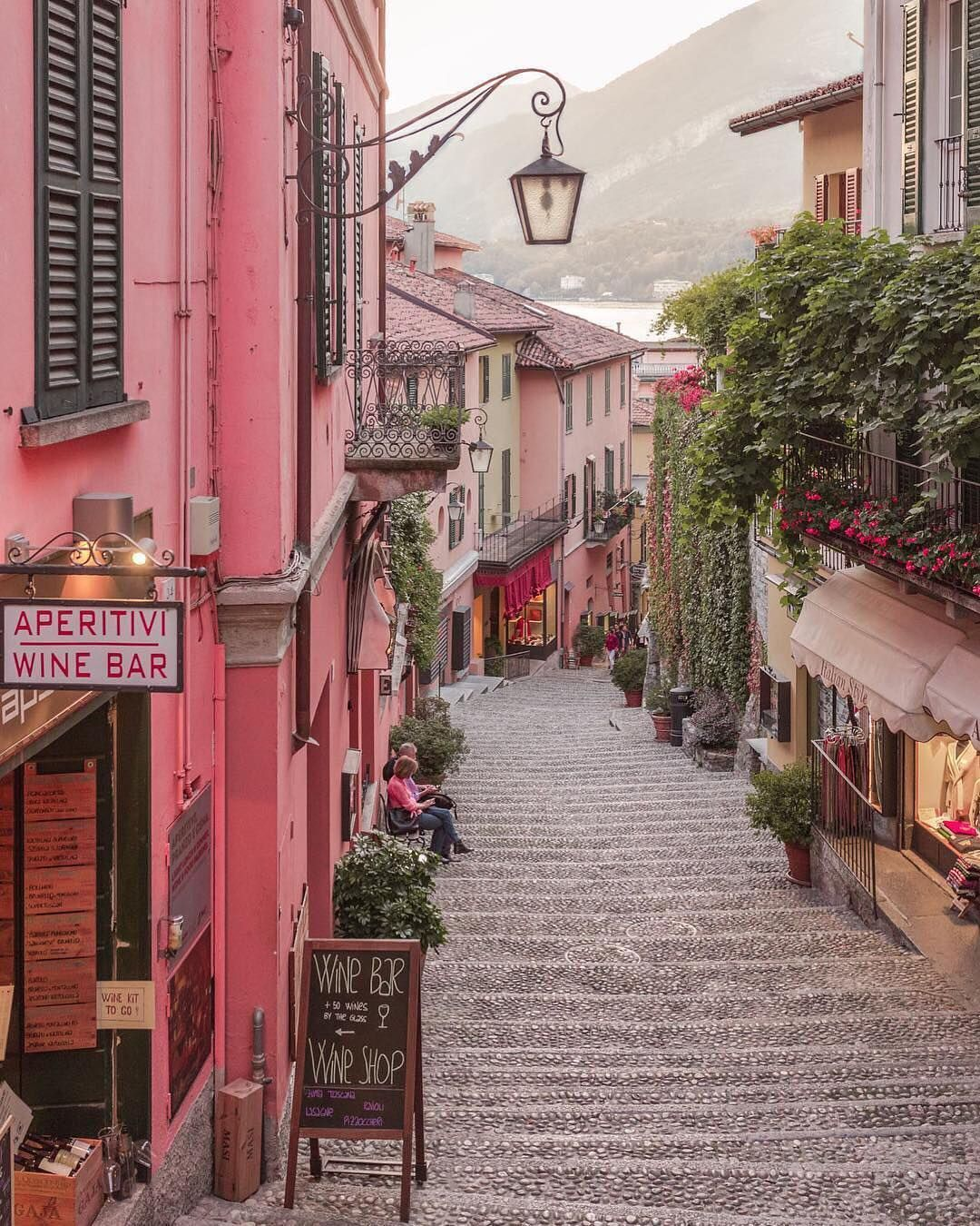 Bellagio Italy We Ll Take The Path Paved With Pink Photo Via Gracejsilla Europe Travel Italy Travel Guide Places In Italy
