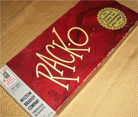 Vintage 1956 Rack O Game Card Board Game Retro Racko Fun Cool Box