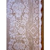 """Jessica- Victorian Style White Cotton Lace Curtain Panel 2.35 m/ 90""""  The Antiques Centre York - great contact for lace by the metre based on vintage / period styles"""