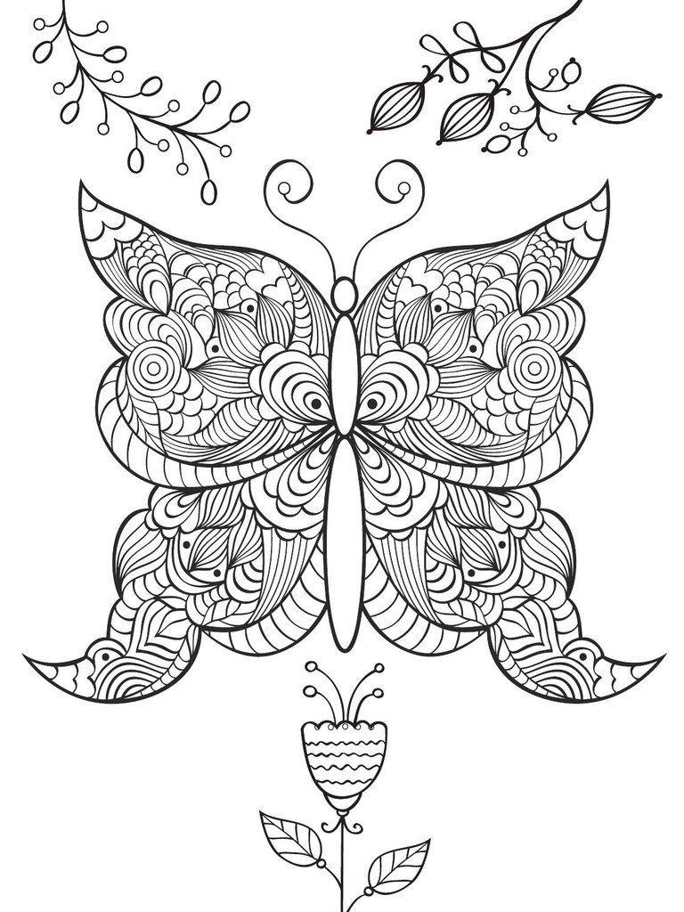 Раскраски-антистресс с изображением бабочек | Раскраски ...