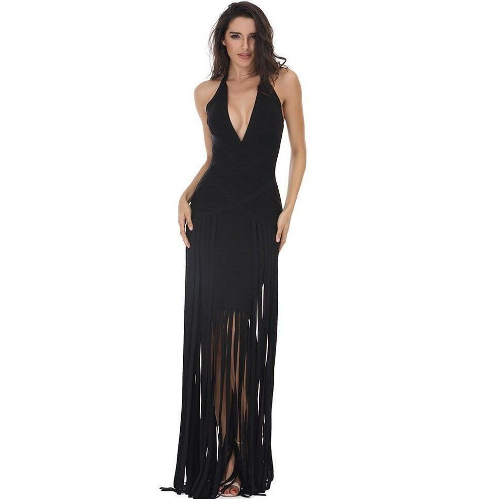 Maxi Fringe dress recommendations to wear in spring in 2019