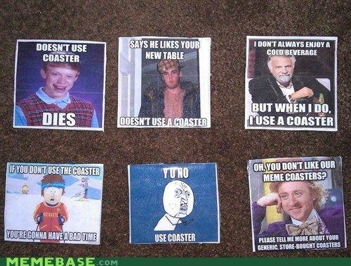 Meme Coasters Kid Drinks House Warming Gifts Memes