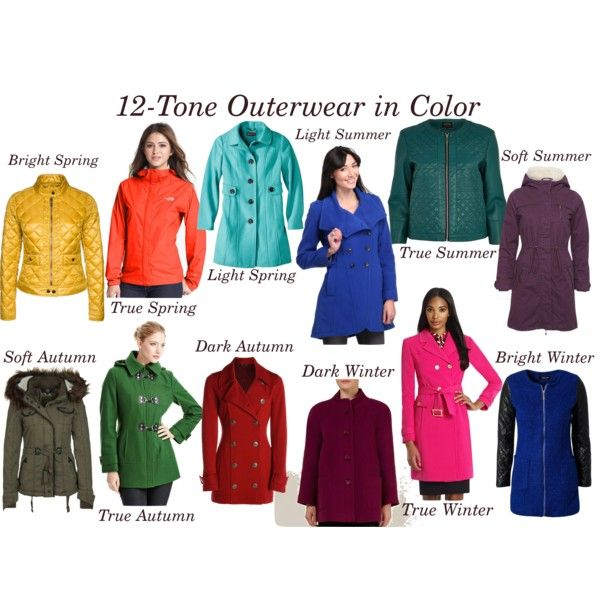 """""""12-Tone Outerwear in Color"""" by heather-lv on Polyvore"""