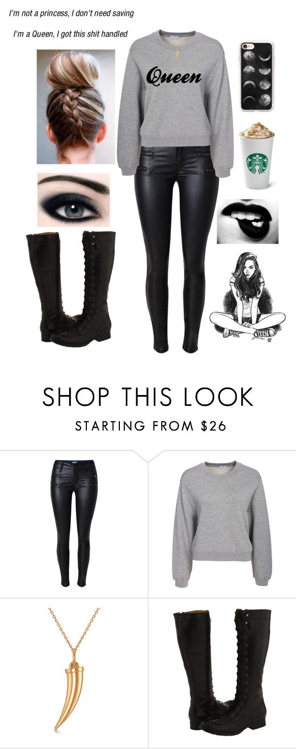 """""""Dark Queens"""" by your-little-rebel ❤ liked on Polyvore featuring Filippa K, Allurez, Frye and Casetify"""