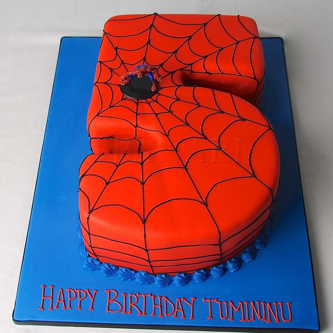 Zanes Spider Man 5 Cake Party Ideas Spiderman Birthday