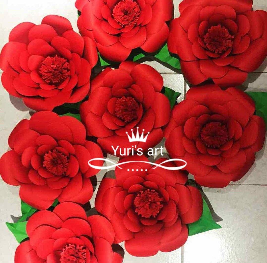 Rosas En Cartulina Iris Flores De Papel Pinterest Flowers