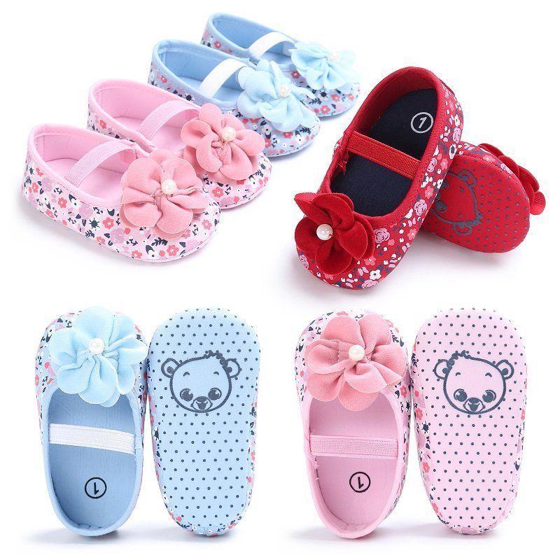 cbebe255af6817  2.49 - Summer Baby Girls Kids Toddler Flower Anti-Slip Crib Shoes Soft  Sole Prewalkers