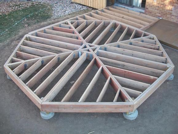 Image result for octagonal stick frame building cabins for How to build an octagon deck
