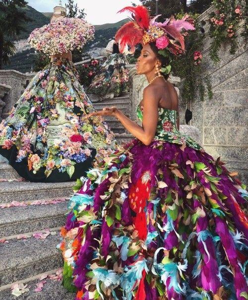 Naomi Campbell At Dolce & Gabbana Alta Moda Fall / Winter