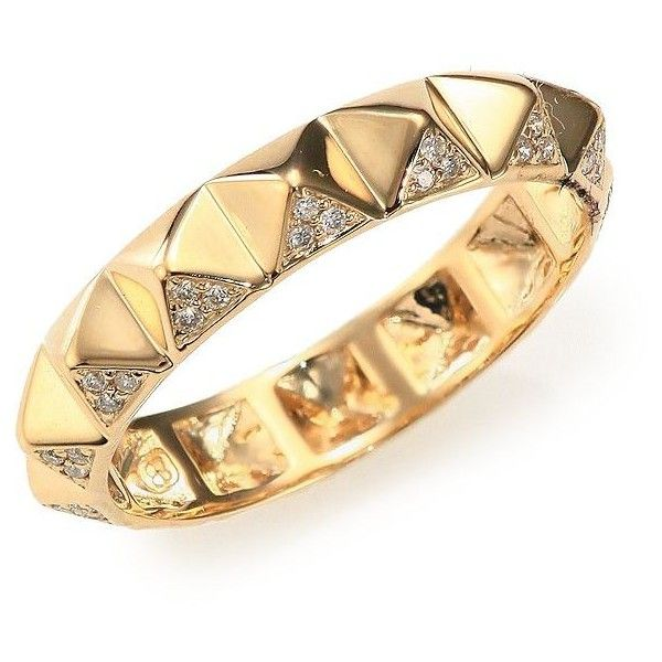 Sydney Evan 14k Pave Diamond Pyramid Eternity Band Ring zR8oNnEitP