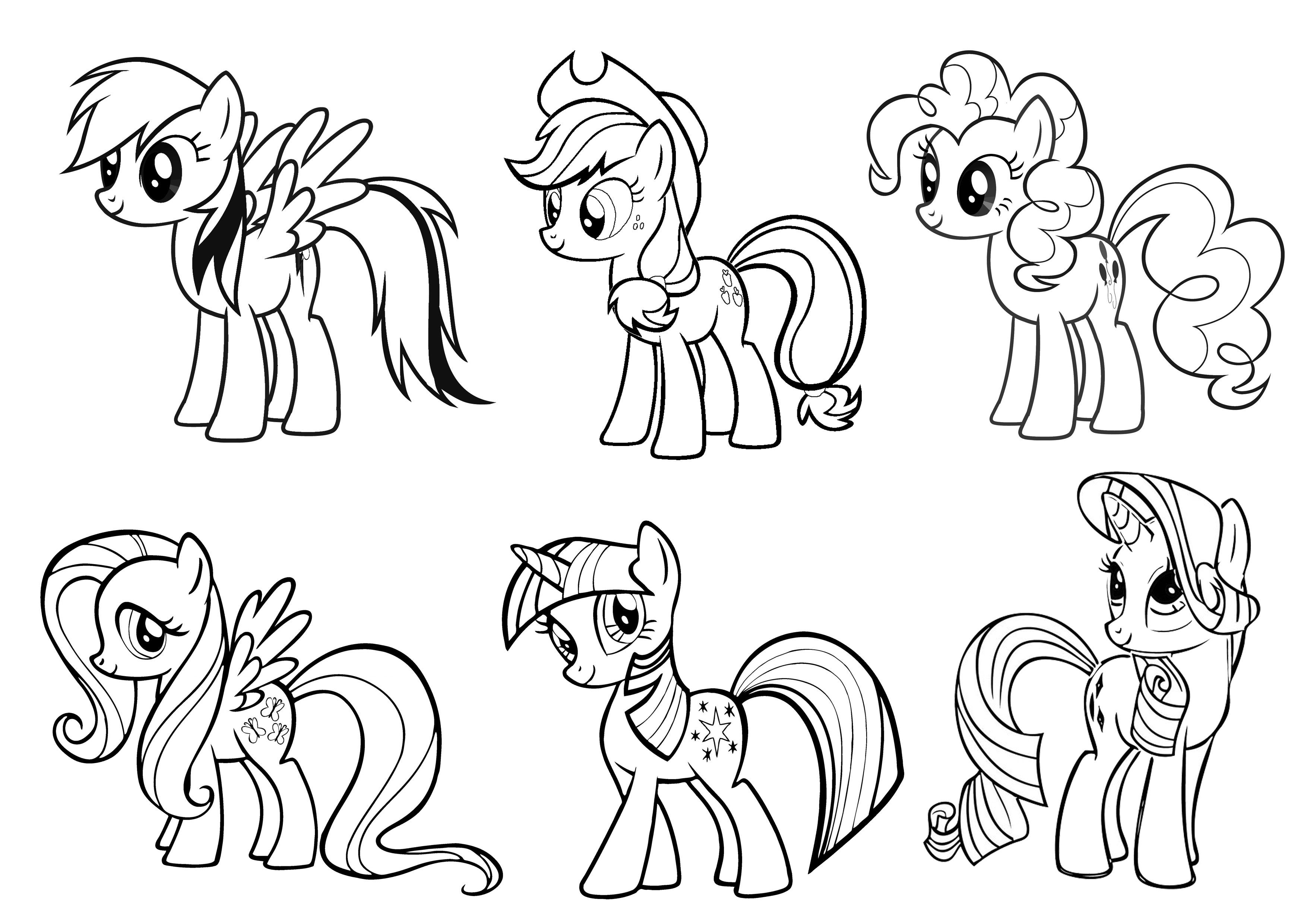My Little Pony Colouring Page My Little Pony Coloring Horse