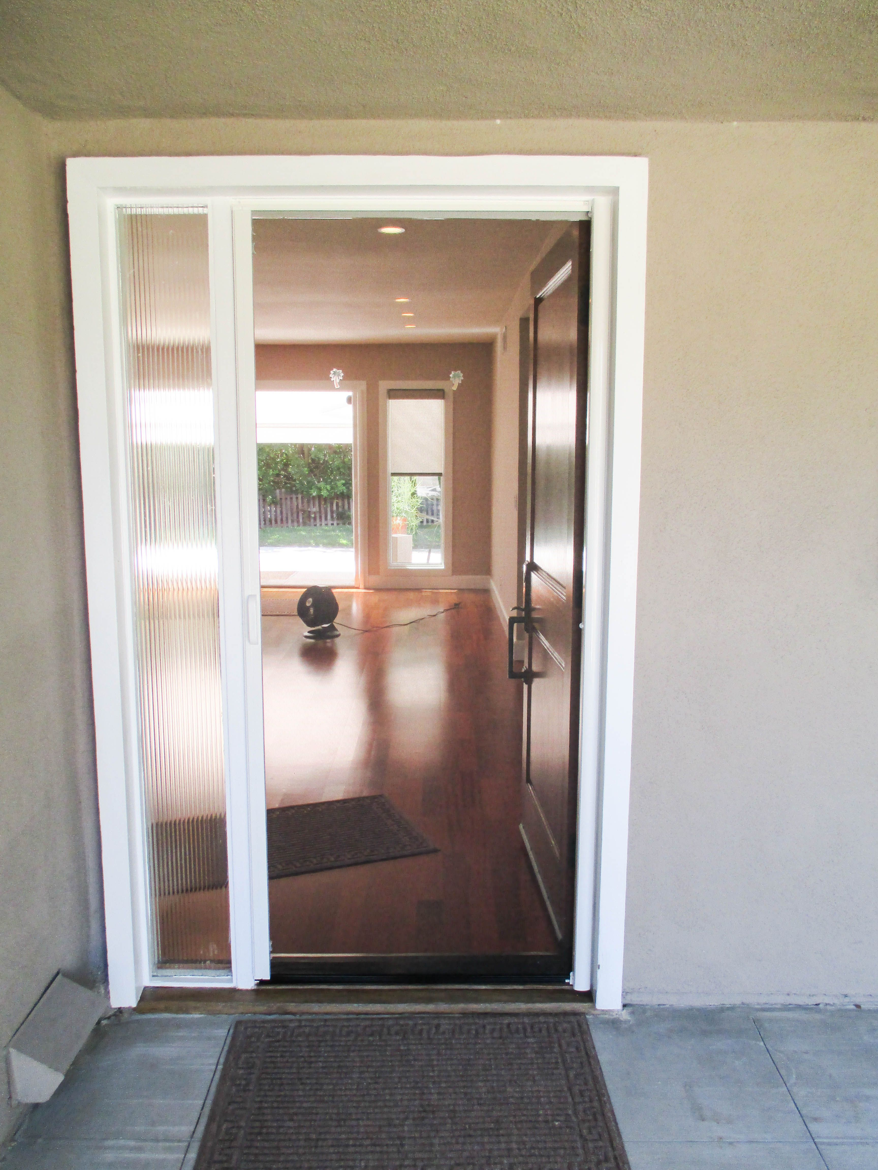 Wonderful If You Have A Beautiful Door, Why Cover It Up With A Traditional Screen Door?  Show That Beauty Off! Look At This Gorgeous Wood Front Single Door With A  ...