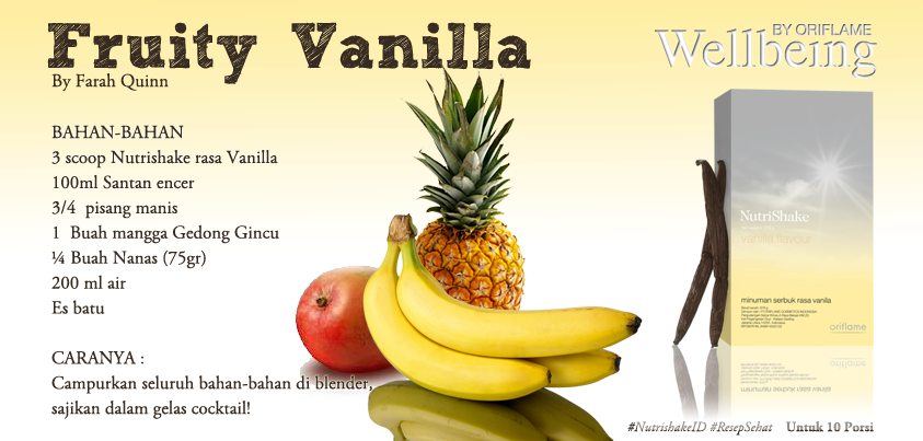 Fruity Vanilla Nutrishake Nanas Buah Vanilla