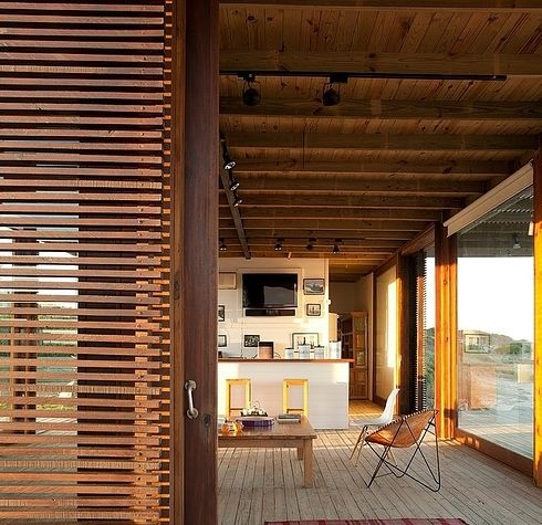 This one in Uruguay.   21 Gorgeous Beach Houses That Are Doing It Right