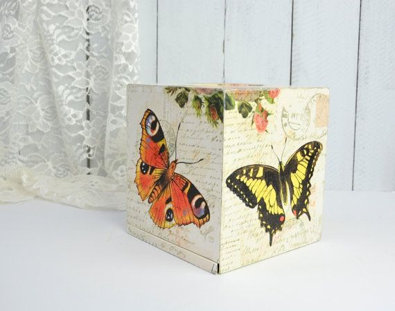 Decorative Tissue Box Cover Decorative Tissue Box Cover Shabby Chic Kleenex Box Coverywart